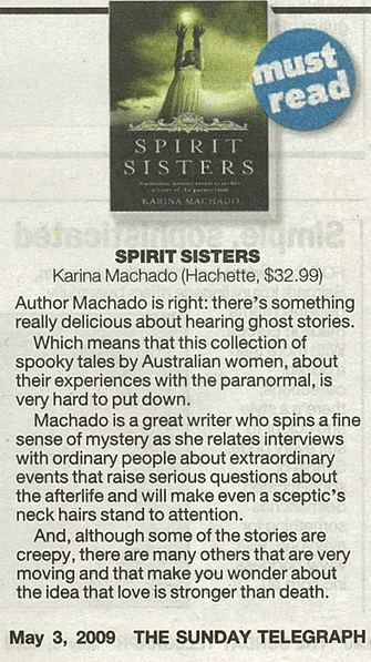 Spirit Sisters review in Sunday Telegraph